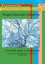 X'und & aktiv in Kronstorf Projekt Gesunde Gemeinde