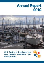 Free Radical Chemistry Annual Report 2010 - Centre of Excellence ...