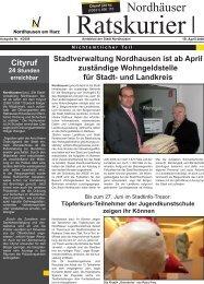 Ratskurier Nr.4 - Stadt Nordhausen