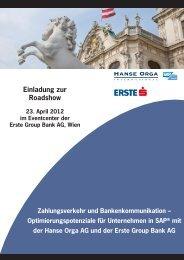 Einladung zur Roadshow - Hanse Orga AG