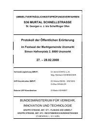 Protokoll der öffentlichen Erörterung am 27. - Bundesministerium für ...