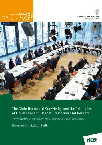 The Globalization of Knowledge and the Principles of Governance in ...