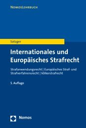Internationales und Europäisches Strafrecht - Zum Nomos-Shop