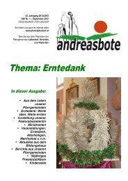 Andreasbote - Jahrgang 43-1 - Pfarre Ladendorf