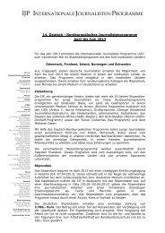 Ausschreibung 2013 (pdf) - Internationale Journalisten Programme
