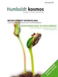 Humboldt Kosmos 90/2007: Wissen schafft Entwicklung