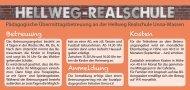 Flyer Hellwegrealschule - SPI Unna, Willkommen