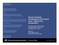 Service Oriented Architectures and Product Lines - Software ...