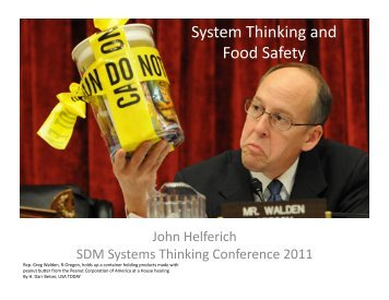 System Thinking and Food Safety - MIT SDM