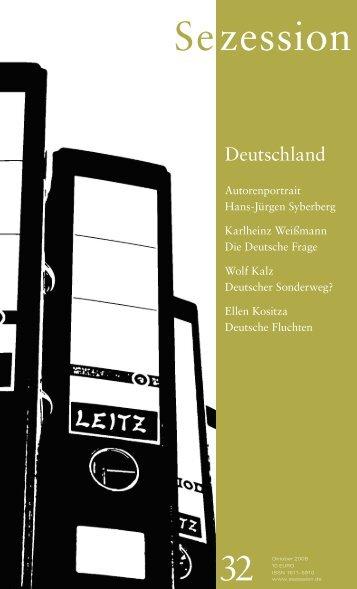 EDITION ANTAIOS Herbst 2009 - Sezession im Netz