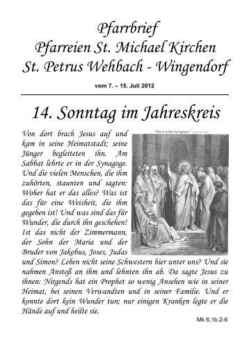 Pfarrbrief 07.07.12 - Herzlich willkommen in St. Michael Kirchen und ...