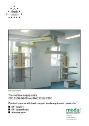 The medical supply units DVE 5100/5200 and DVE ... - Modul technik