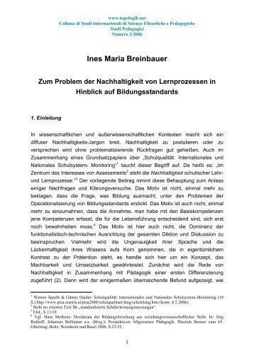 Ines Maria Breinbauer - Topologik