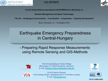 Earthquake Emergency Preparedness in Central-Hungary - UN-Spider