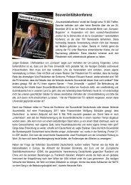 Souveränitätskonferenz - Ludwig Watzal