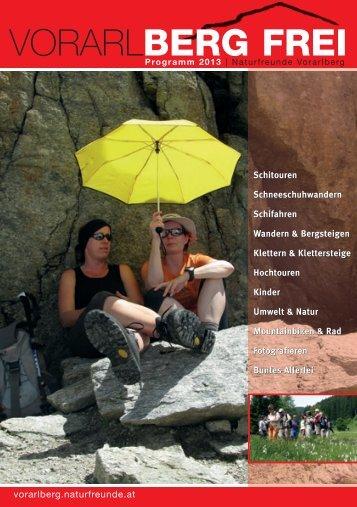 Landesprogramm 2013 - Naturfreunde Vorarlberg