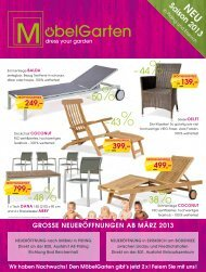 Prospekt der Saison 2013 - Möbelgarten