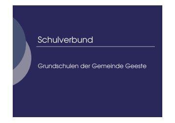 Schulverbünde im Emsland - Bildungsregion Braunschweig