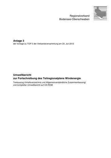 Umweltbericht zur Fortschreibung des ... - Der Wurzacher