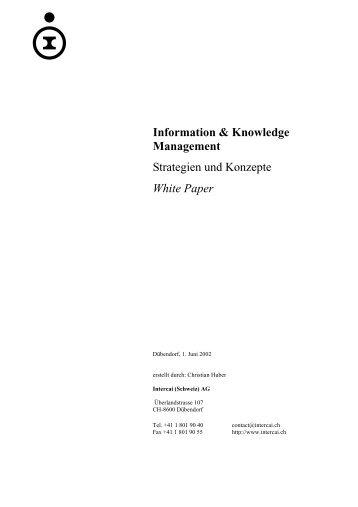 Information & Knowledge Management Strategien und ... - Intercai