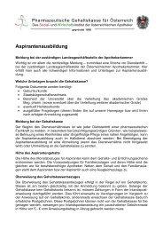 Aspirantenausbildung - Pharmazeutische Gehaltskasse