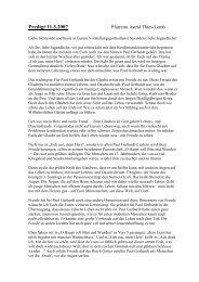Predigt über Geh aus mein Herz und suche - Christuskirche Kassel