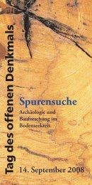 Spurensuche. Archäologie und Bauforschung im Bodenseekreis