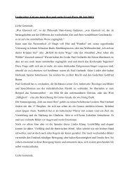 Liedpredigt: Geh aus mein Herz und suche Freud (Paris, 08. Juli ...