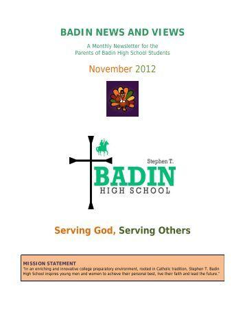 November 2012 - Stephen T. Badin High School