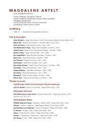 Vita als PDF laden - magdalene artelt