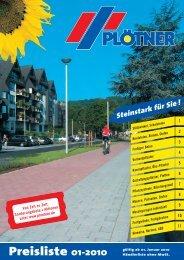 Preisliste 01-2010 - Betonwerk Carl Plötner GmbH