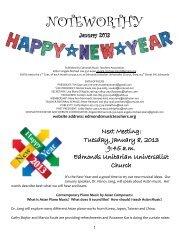 January 2013 - Edmonds Music Teachers Association