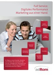 adrom Produktfolder E-Mail Marketing  Software und Daten für den professionellen Newsletter Marketing Nutzer
