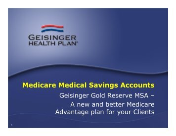 Medicare Medical Savings Accounts - Ritter Insurance Marketing