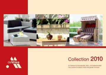 "DekoVries- Katalog ""Collection 2010"" - Strandkorb Berlin"