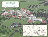 campus map with directions to the Hood Center - Geisinger Health ...