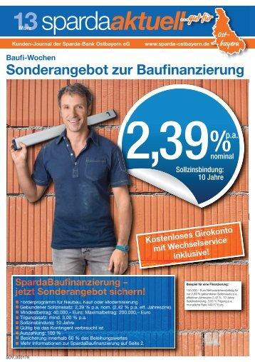zur aktuellen Kundenzeitung - Sparda Ostbayern