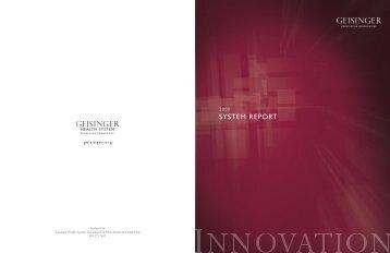 SYSTEM REPORT - Geisinger Health System