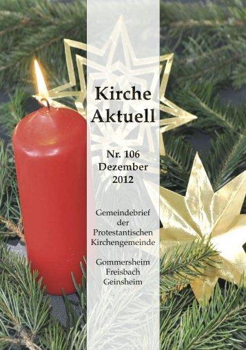 Gemeindebrief Nr. 106, Dezember 2012 - Protestantische ...