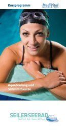 Aquatraining und Schwimmkurse Kursprogramm - Seilerseebad