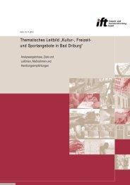 Endbericht Thematisches Leitbild Kultur-, Freizeit- und ... - Bad Driburg