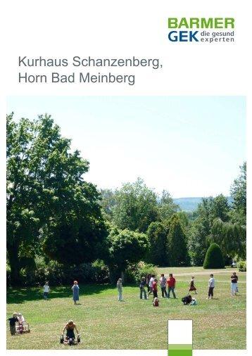 Kurhaus Schanzenberg - Horn Bad Meinberg ( PDF ... - Barmer GEK