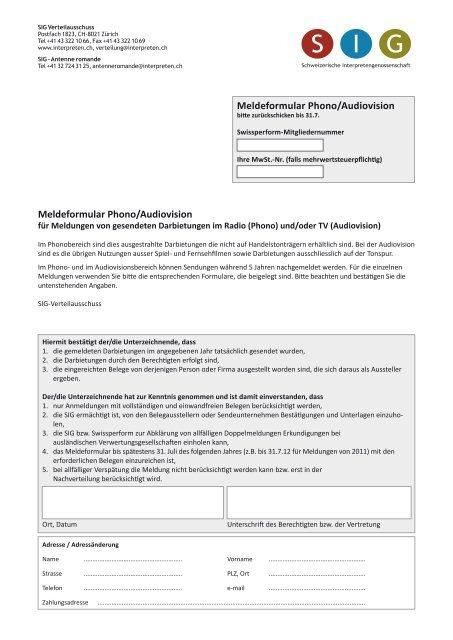 TV-Nutzungen — Werbespots & Signete - Schweizerische ...