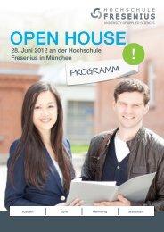 OPEN HOUSE - Hochschule Fresenius