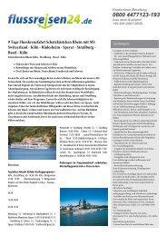 9 Tage Flusskreuzfahrt Schatzkästchen Rhein mit ... - Flussreisen 24