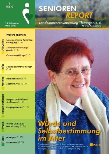 SENIOREN REPORT - Landesseniorenvertretung Thüringen