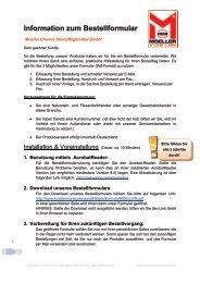 Download: Anleitung und Bestellformular - Moeller Chemie