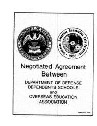 Negotiated Agreement Between Department of Defense ... - DoDEA