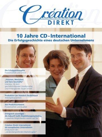 10 Jahre CD - International 10 Jahre CD ... - Creation Direkt