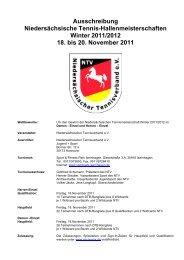 Ausschreibung Niedersächsische Tennis-Hallenmeisterschaften ...